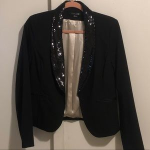 Sequined Black Blazer by Forever 21